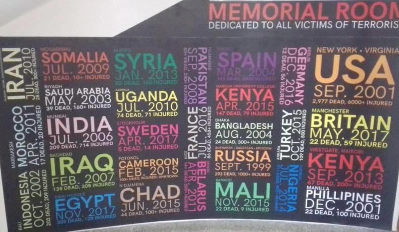Áldozatok fala az Augusztus 7. emlékparkban